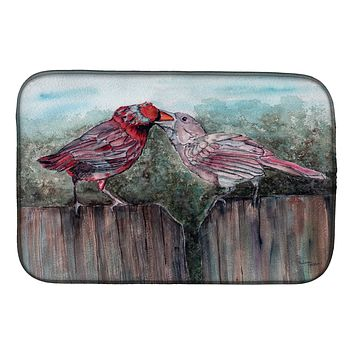 Red Bird Feeding Dish Drying Mat 8981DDM