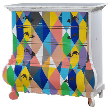 Dalury Chest, Blue/Yellow/Multi, Sofa Table, Coffee Table