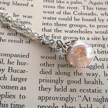 Pink Jewelry - Marble Necklace - Hippie Jewelry - Cute Jewelry - Glass Marble - Fired Marble - Bridesmaid Jewelry - Bridal Jewelry - Boho