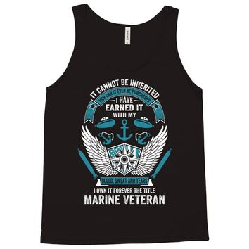 I Own It Forever The Title Marine Veteran Tank Top