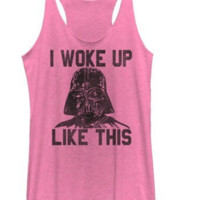 Star Wars The Force Awakens TFA Woke Up Like This Tank Juniors T-Shirt