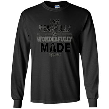 I am Fearfully and Wonderfully Made Christian Gift T-Shirt cool shirt