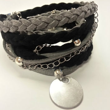 Boho Triple Wrap Bracelet for Women and Girls feat. Infinity Charm (Made in USA) Personlize/Customize - Choose Your Colors