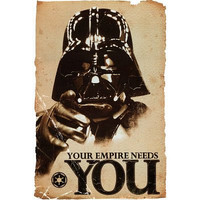 Trends Intl. Star Wars Empire Poster, 24-Inch by 36-Inch