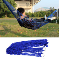 2016 new arrival Outdoor Travel Camping Hammock Garden Portable Nylon Hang Mesh Net Sleeping Bed