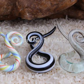 acrylic mix order Pyrex taper twist pair teal ear piercing gauge spiral ear Stretching kit