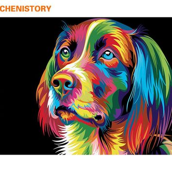 Dog DIY Paint By Numbers Kit: Includes Acrylic Paints, Brushes and Canvas