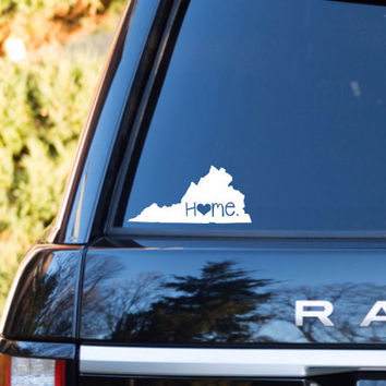 Virginia Home Decal | Virginia Decal | Homestate Decals | Love Sticker | Love Decal  | Country Decal | Car Decal | Car Stickers | 086