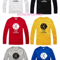 EXO KRIS CHANYEOL SEHUN MEMBER GOODS LONG SLEEVE T-SHIRT KPOP NEW