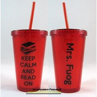 Librarian personalized 16 oz tumbler-Teacher Appreciation from SimpleXpressions-Personalized!