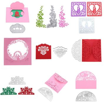 2017 New Frame Snowflake Metal Cutting Dies Stencils For Scrapbooking Photo Album Decorative Embossing DIY Paper Cards Craft
