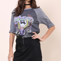 Junk Food Aerosmith Raglan
