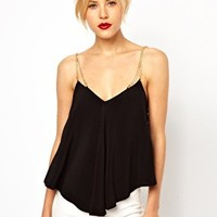 ASOS Cami With Chain Straps at asos.com