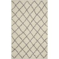 Safavieh Dallas Shag Ivory & Grey Area Rug; 6' x 9'