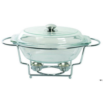 Top Fasion Eco-friendly Ciq Glass for Buffet Dish Chafing Pot