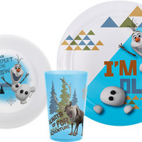 Disney Frozen Olaf Plate, Bowl & Tumbler Set
