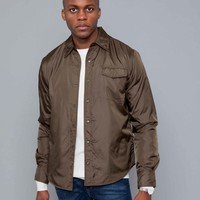 Aspesi Marvin Shirt Brown Nylon • Centreville Store