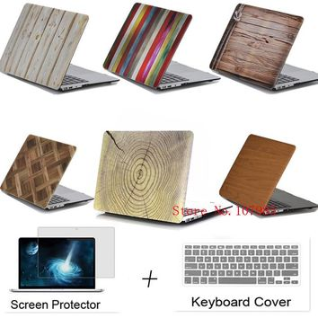 Wood Shell Case For Apple Macbook 11.6 12 13.3 15.4 Air Pro with Retina laptop Protector For Mac book 11 12 13 15 inch Cover