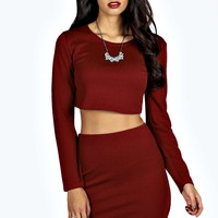 Isla Long Sleeve Crop & Mini Skirt Co-Ord Set