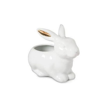Threshold Bunny Figural Candy Bowl With Real Gold -