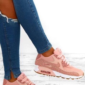 Nike Air Max 90 Pink Leopard Trainers