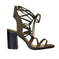 Ophelie Suede Lace-Up Heels-FINAL SALE