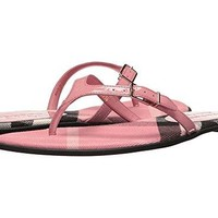 BURBERRY Flip Flops Shoes Leather Made In London
