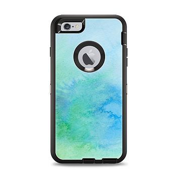 The Subtle Green & Blue Watercolor V2 Apple iPhone 6 Plus Otterbox Defender Case Skin Set