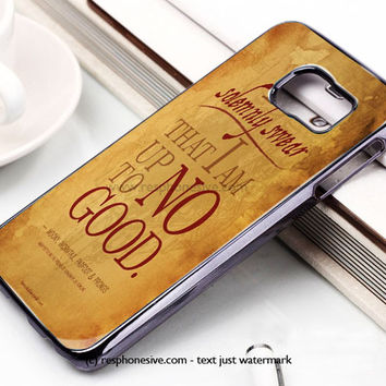 Harry Potter Quote - I Solemnly Swear That I Am Up To No Good Black Samsung Galaxy S6 and S6 Edge Case