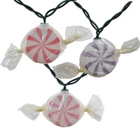 Wrapped Hard Candy Set of 10 String Lights