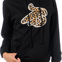 Crooks and Castles Air Gun Leopard Black Hoodie