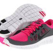 Nike Kids Free 5.0 (Big Kid) Pink Foil/Cool Grey/White/Black - Zappos.com Free Shipping BOTH Ways