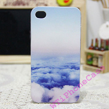 Plastic iphone 4 case iphone 4s case blue sky by WTiPhoneCase