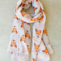 A Little Fox Scarf [6133] - $16.00 : Vintage Inspired Clothing & Affordable Dresses, deloom | Modern. Vintage. Crafted.