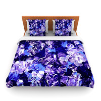 "Ebi Emporium ""Floral Fantasy"" Purple Lightweight Duvet Cover"