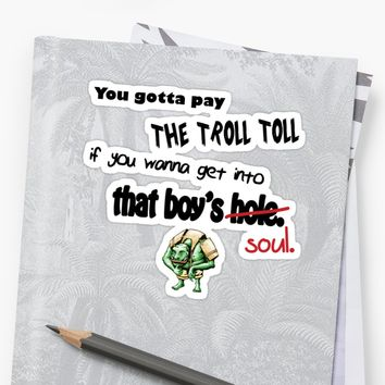 'Troll Toll' Sticker by DorkSlay