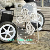 cross  iphone 4 case cover iphone 4s case by handmadeblingcase