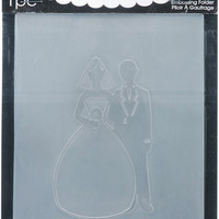 embossing folder, bride/groom