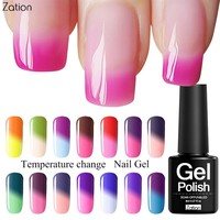 Zation Hybrid Gel Varnish Color Change Gel Beauty Gel Nail Polish Thermo Temperature Change Thermal Chameleon Nail Gel Lacquer