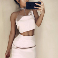 Silky Two-Piece Ariana Dress
