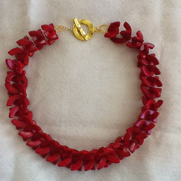 Red Magnesite Necklace