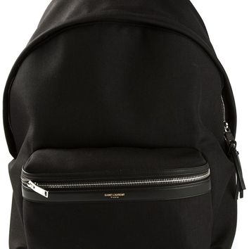 Saint Laurent Contrast Trim Backpack
