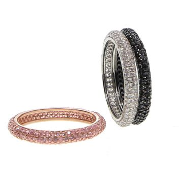 Mix three Color Wedding Band Engagement CZ Rings Paved Full AAA cubic zirconia Luxury ring Jewelry for Women