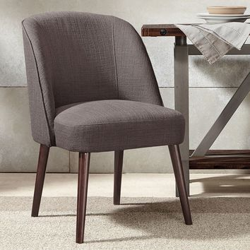 Madison Park Larkin Soft Rounded Back Dining Chair (Grey)