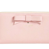 Kate Spade New York North Court Bow Lacey Pebbled Leather Wallet