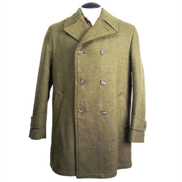 1950s Mens Vintage Field and Stream Wool Coat Gordon and Ferguson Co 42