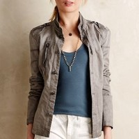 Freya Jacket by Anthropologie Light Grey