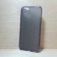 Soft TPU translucent Color Case Protective Silicone Back Case Cover for iPhone 6 (4.7 inches) - Grey