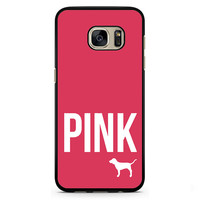 Pink Victoria's Secret Phonecase Cover Case For Samsung Galaxy S3 Samsung Galaxy S4 Samsung Galaxy S5 Samsung Galaxy S6 Samsung Galaxy S7
