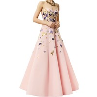 Andrew GN Pansy Embellished Gown Pink  Harrods.com
